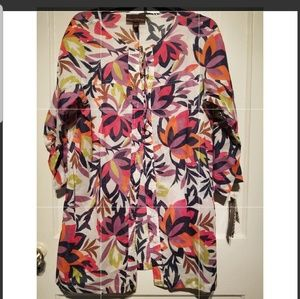 Dana buchman izba breeze top large new